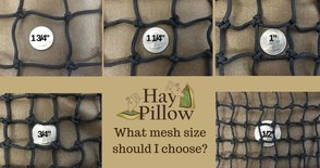 slow feed hay mesh size information