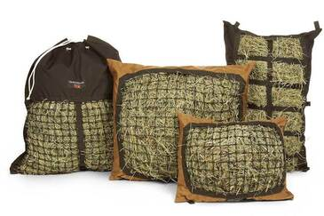 The Hay Pillow Product Line - Slow Feed Standard, Mini, Hanging & Manger Styles