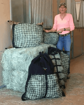 Hay Pillow Slow Feeder Inventor, Monique Warren.