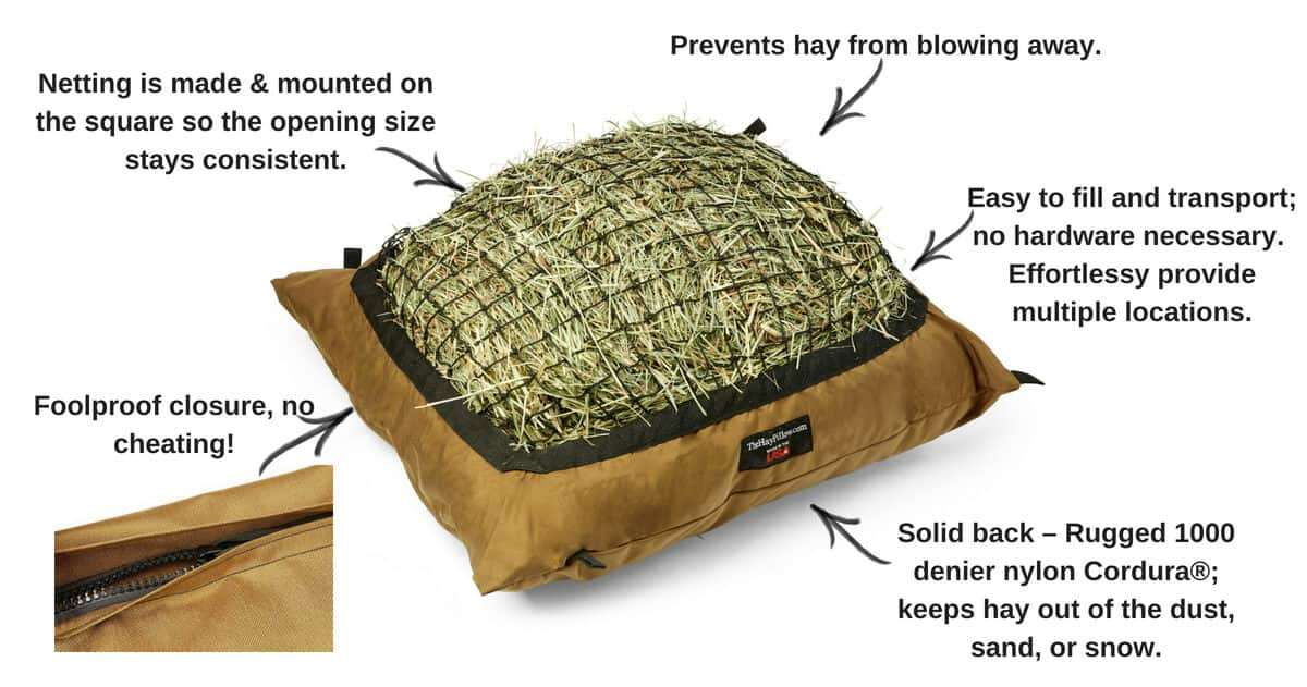 Benefits of Hay Pillow Slow Feeder Bag - Standard Ground Style